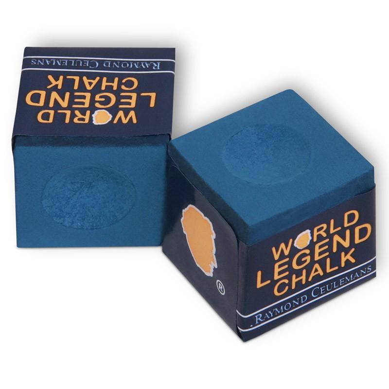Мел для бильярда Raymond Ceulemans World Legend Blue, 2 шт03198Первоклассный мел World Legend Blue производится компанией Tweeten Fibre Co., Inc. в США, был разработан совместно с легендой в бильярдном спорте Raymond Ceulemans и выпускается под его именем. Благодаря уникальной формуле мел отлично держится на наклейке, практически не оставляет следов на шарах. Мелки удобно для игроков упакованы по две штуки и не занимают много места.