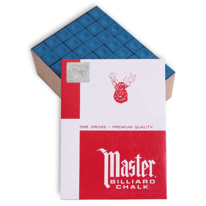 Мел для бильярда Tweeten Master Blue, 144 шт01832Мел Tweeten Master Blue обладает более твердым, чем у обычного мела, строением, отличаясь от него и по составу. Его рекомендуют плавно и равномерно наносить тонким слоем на кожаную наклейку. При ударах, смещённых относительно центра бильярдного шара, мел используется как надежная защита от кикса.
