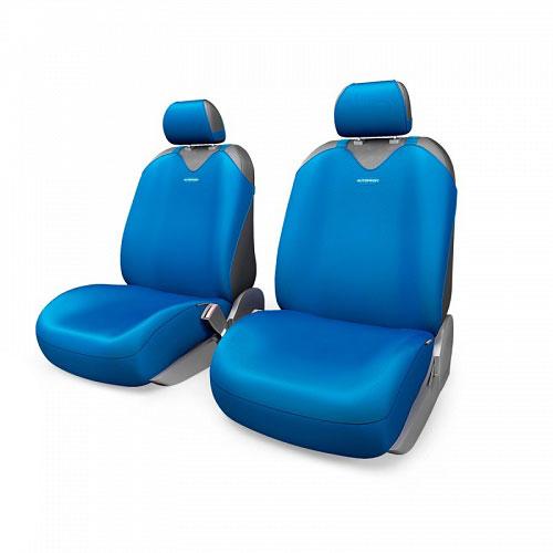 Чехлы-майки Autoprofi R1 - Sport Plus, цвет: синий, 4 предметаR-402Pf BLЧехлы-майки Autoprofi R1 - Sport Plus выполнены в спортивном стиле, который придает салону яркие и динамичные черты. Широкая гамма расцветок чехлов позволяет подобрать их к любому автомобильному интерьеру. Эластичный полиэстер изделий плотно облегает поверхность кресел, не выцветает на солнце и не электризуется. Модель авточехлов-маек оснащена полностью закрытой нижней частью сидений, которая делает чехлы более практичными и износостойкими. Форма чехлов в виде маек позволяет легко и быстро надевать их на кресла любого типа, не прибегая к демонтажу подголовников и подлокотников.Комплектация: 2 чехла для кресел переднего ряда, 2 подголовника.