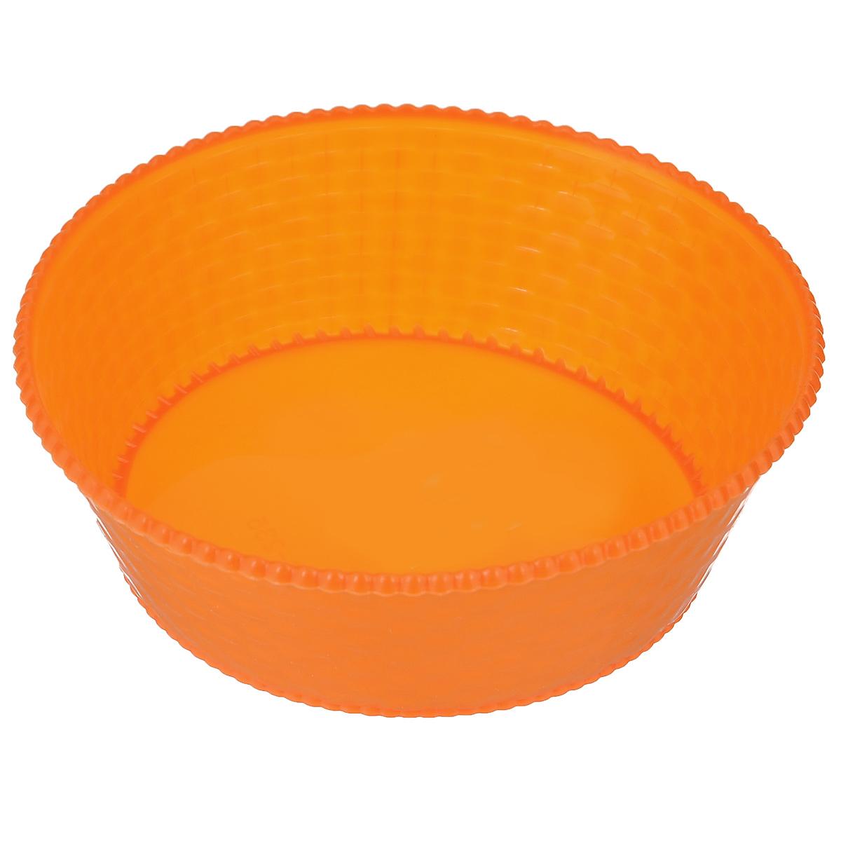 Корзинка для мелочей Sima-land, цвет: оранжевый, диаметр 15 смTD 0033Круглая корзинка Sima-land, изготовленная из пластика, предназначена для хранения мелочей в ванной, на кухне, на даче. Легкая компактная корзина позволяет хранить мелкие вещи, исключая возможность их потери. Диаметр корзины: 15 см.Высота корзины: 4,5 см.
