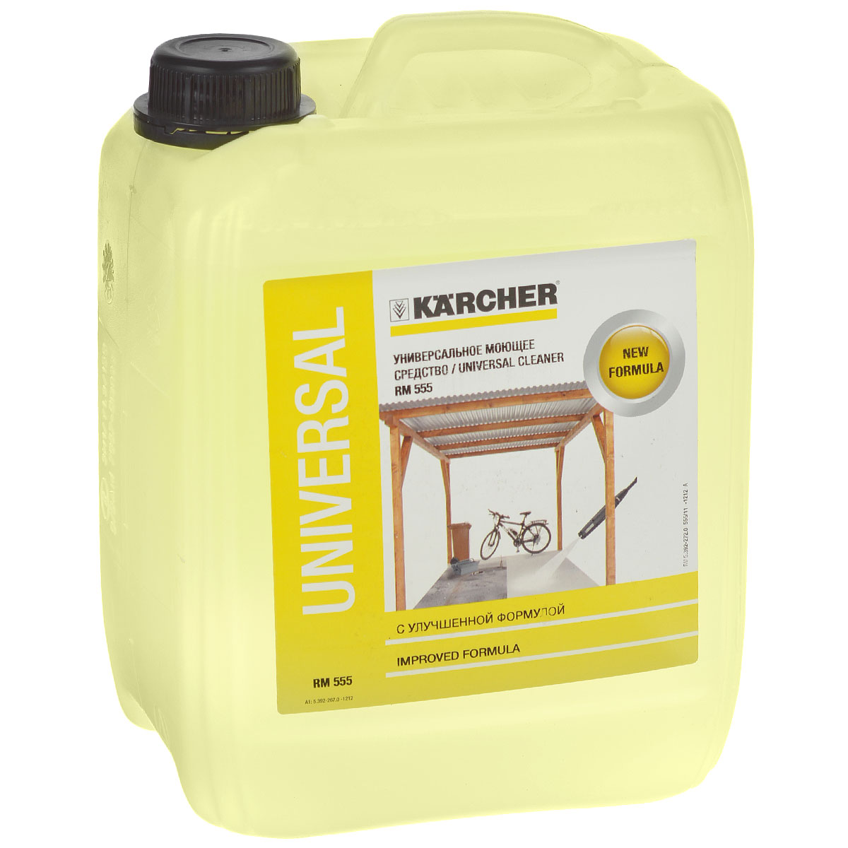 Средство моющее универсальное Karcher RM 555 Profi, 5 л 6.295-357.0RC-100BWCЭффективное универсальное моющее средство Karcher RM 555 Profi с улучшенной формулой предназначено для проведения обработки с использованием всех высоконапорных моющих аппаратов фирмы Karcher. Без труда удаляет следы масла, жиров и минеральные загрязнения со всех водостойких поверхностей, например, каменных и деревянных террас, пластиковой мебели, лакированных поверхностей автомобилей и т.д. Применяется повсеместно в домашнем хозяйстве, садах и автомобилях. Karcher RM 555 Profi легко подвергается биологическому разложению, pH-нейтральное, не содержит фосфатов и опасных компонентов.Состав: <5% анионные тензиды, неионные тензиды, ароматизаторы, консервант, метилхлоризотиазолинон, красители.