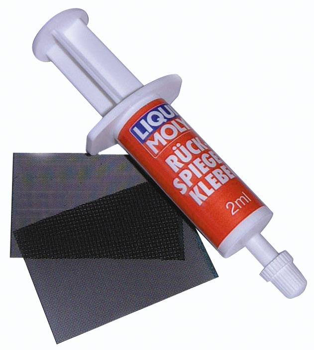 Клей для зеркал заднего вида LIQUI MOLY, 1 млPANTERA SPX-2RSАнаэробный клей LIQUI MOLY с высокой адгезией и подложкой в виде нейлоновой сеточки, которая служит основой для крепления зеркала и выполняет одновременно роль катализатора для клея, разработан специально для приклеивания металлических креплений зеркал к лобовому стеклу, а также для приклеивания металлических шарниров к боковым форточкам автомобиля. Клеевое основание компенсирует температурное расширение поверхностей, благодаря чему достигается высокая прочность соединения.Достоинства:высокая устойчивость против ударов и отрыва,отличная долговременная прочность,быстрое затвердевание.