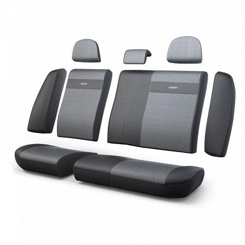 Авточехлы Autoprofi Трансформер, экокожа, цвет: черный, темно-серый, 13 предметов21395599Чехлы Autoprofi Трансформер - новая модель автомобильных чехлов. Главной особенностью их стала модульная конструкция, благодаря которой можно укомплектовать 5-, 7- или 8-местный автомобиль. Запатентованная конструкция чехлов с молниями и торцевыми клапанами позволит их адаптировать в автомобилях с любым кузовом - седана, минивена, кроссовера, внедорожника или универсала. Приэтом специальные клапаны закрывают торцы спинок и подлокотников, позволяя их складывать иобеспечивая плотное прилегание даже на нестандартных креслах.Немаловажно, что данная серия чехлов на автомобильное сиденье оснащена распускаемым боковым швом, что позволяет их использовать в автомобилях с боковой подушкой безопасности. Выполнены из экокожи. Из прежних наработок, полюбившихся автомобилистам, в данных чехлах сохранилось крепление крючками и липучками, которые прочно фиксируют чехлы на сиденье. Чехлы для переднего ряда серии Трансформер сочетаются со всеми чехлами заднего ряда этой серии.Особенности:Карманы в спинках передних сидений.Предустановленные крючки на широких резинках.Боковая поддержка спины.Молнии в спинке и сиденье заднего ряда: 8. Толщина поролона: 5 мм.Комплектация: 3 подголовника, 1 спинка заднего ряда, 1 сиденье заднего ряда, 6 клапанов спинки, 2 клапана сиденья.