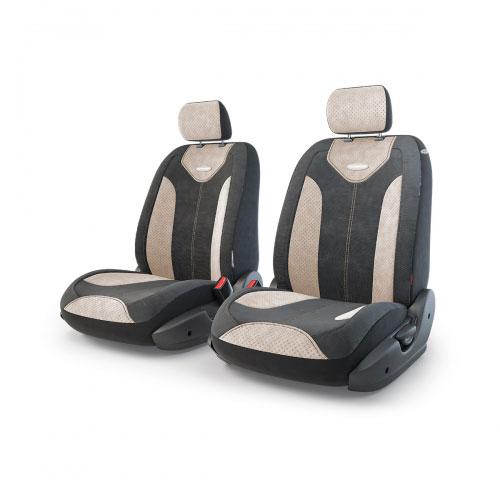 Авточехлы Autoprofi Трансформер Matrix, велюр, цвет: черный, бежевый, 6 предметовSM/COV-020 GY/RDЧехлы Autoprofi Трансформер Matrix - новая модель автомобильных чехлов. Главной особенность их стала модульная конструкция, благодаря которой можно укомплектовать 5-, 7- или 8-местный автомобиль. Запатентованная конструкция чехлов с молниями и торцевыми клапанами позволит их адаптировать в автомобилях с любым кузовом - седана, минивена, кроссовера, внедорожника или универсала. Приэтом специальные клапаны закрывают торцы спинок и подлокотников, позволяя их складывать иобеспечивая плотное прилегание даже на нестандартных креслах.Немаловажно, что данная серия чехлов на автомобильное сиденье оснащена распускаемым боковым швом, что позволяет их использовать в автомобилях с боковой подушкой безопасности. Из прежних наработок, полюбившихся автомобилистам, в серии авточехлов Трансформер сохранилось крепление крючками и липучками, которые прочно фиксируют чехлы на сиденье. Также здесь боковая поддержка и поясничный упор спины, с которыми любая дорога проходит быстрее. Спинка и боковые части автомобильного чехла сделаны из велюра. Чехлы для переднего ряда серии Трансформер сочетаются со всеми чехлами заднего ряда этой же серии.Комплектация: 2 подголовника, 2 спинки переднего ряда, 2 сиденья переднего ряда.Особенности: - Толщина поролона: 5 мм.- Карманы в спинках передних сидений.- Предустановленные крючки на широких резинках.- Крепление передних спинок липучками.- Использование с боковыми airbag.- Поясничный упор.- Боковая поддержка спины.