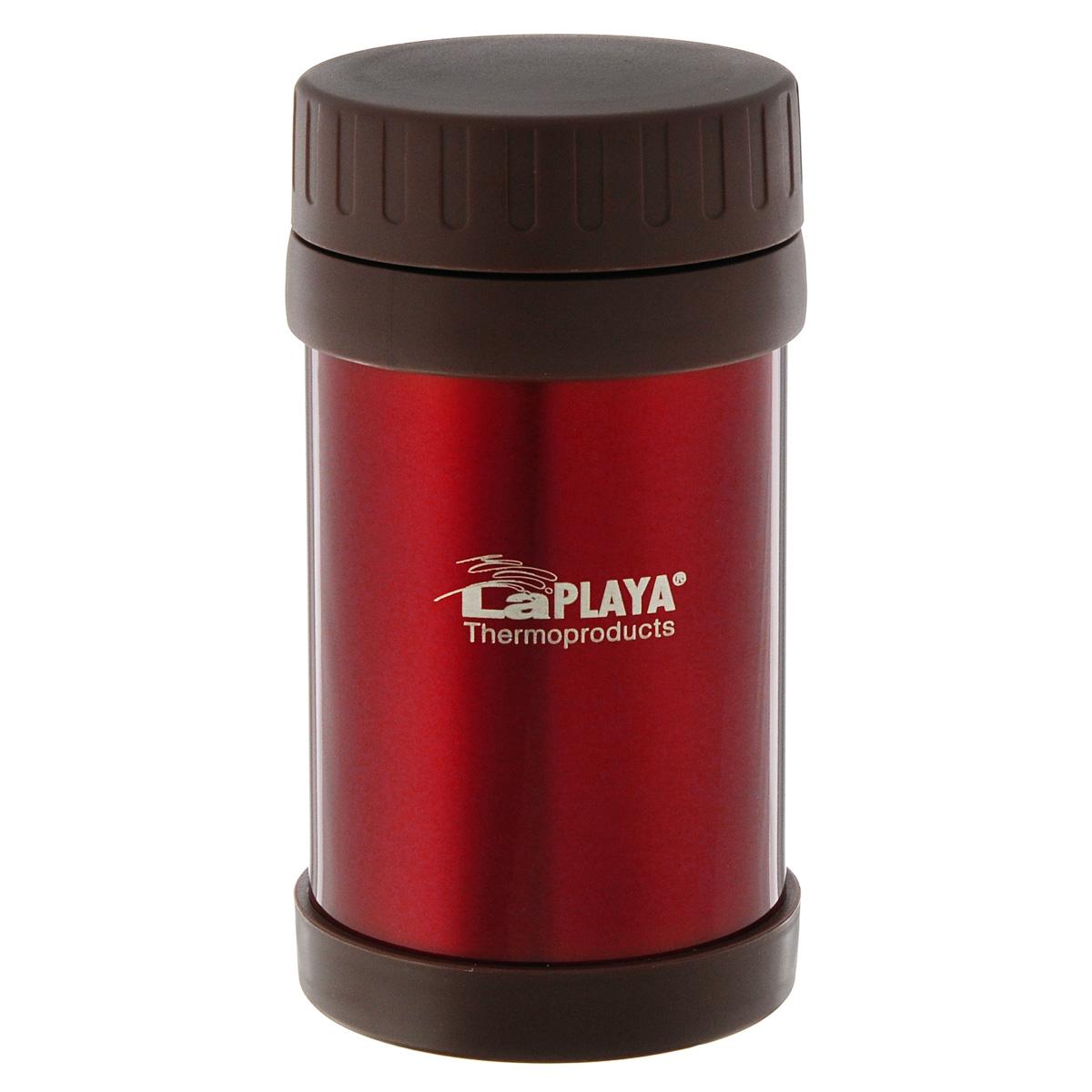 Термос для еды LaPlaya Food Container, цвет: красный, 500 мл115510Корпус термоса LaPlaya Food Container изготовлен из высококачественной нержавеющей стали с двумя стенками и превосходной вакуумной изоляцией. Термос оснащен крышкой, благодаря которой сохраняется абсолютная герметичность. Изделие имеет большое горлышко, поэтому идеально подходит для салатов, закусок, первых и вторых блюд.Такой термос удобен в использовании и станет полезным подарком. Нельзя мыть в посудомоечной машине. Диаметр (по верхнему краю): 7 см. Диаметр основания: 8,5 см. Высота (без учета крышки): 15,5 см.