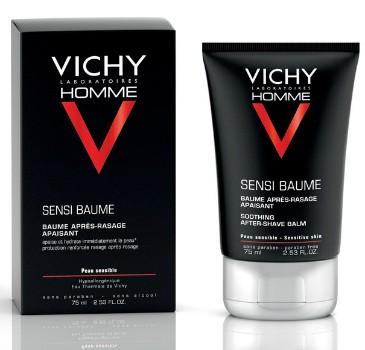 Vichy Бальзам смягчающий после бритья Vichy Homme для чувствительной кожи Sensi Baume Ca, 75 мл401981Чувствительная кожа сразу же становятся мягкой и обретает ощущение комфорта. Покраснение и чувство жжения уменьшаются с каждым днём применения. Увлажнение кожи 24 ч
