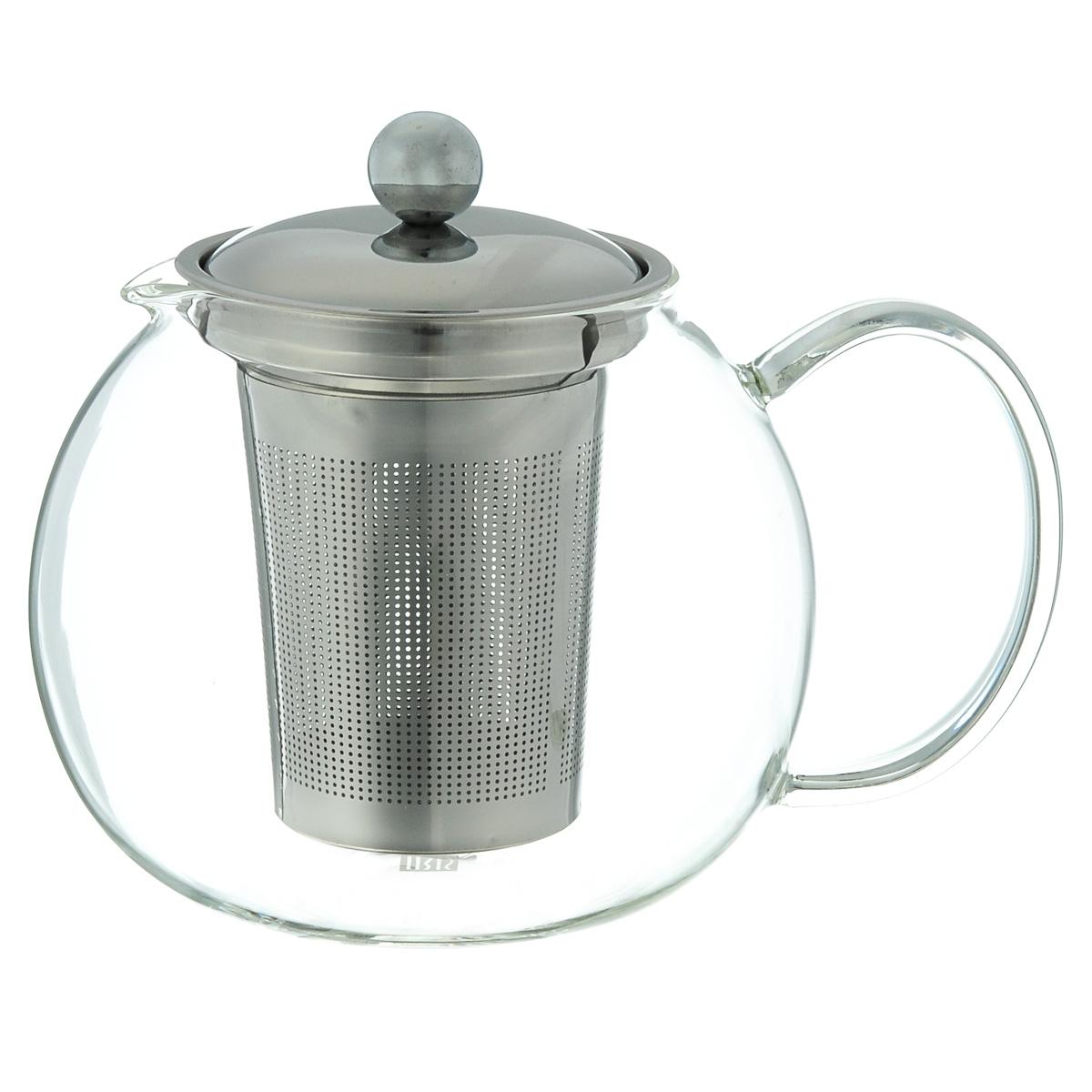 Чайник заварочный Iris Barcelona, 1,3 л54 009312Заварочный чайник Iris Barcelona изготовлен из боросиликатного стекла, которое отличается прочностью и устойчивостью к высоким температурам. Чайник оснащен крышкой и ситечком, выполненным из нержавеющей стали 18/8. Чайник предназначен для заварки 6 чашек чая. Можно мыть в посудомоечной машине. Объем: 1,3 л. Диаметр (по верхнему краю): 9 см. Высота (без учета крышки): 12,5 см.