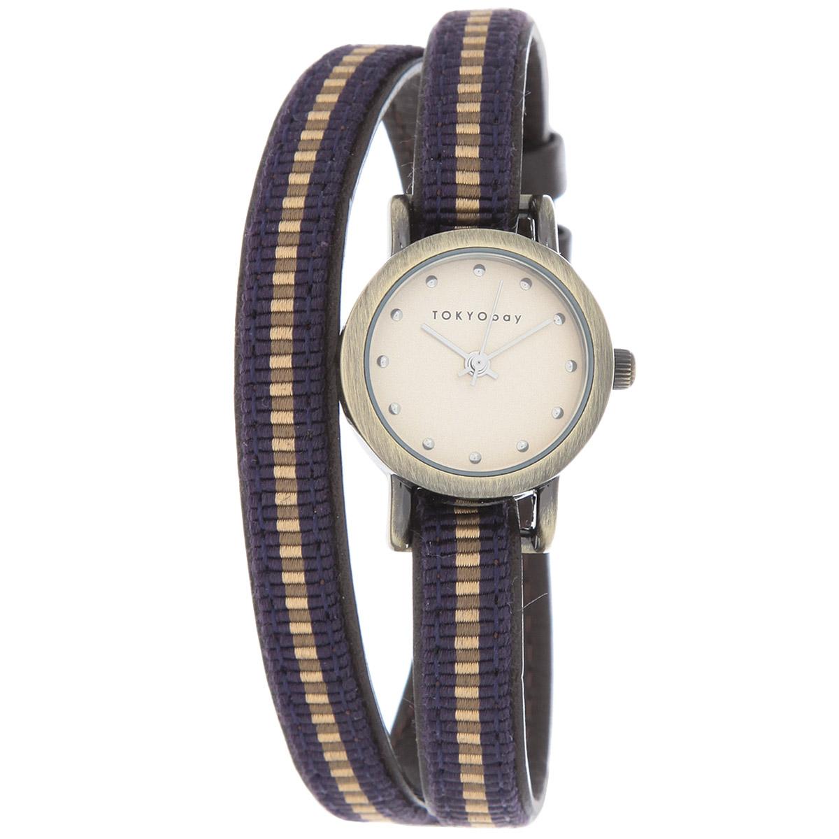 Часы женские наручные Tokyobay Nishiki, цвет: синий. T266-PUBM8434-58AEНаручные часы Tokyobay - это стильное дополнение к вашему неповторимому образу. Эти часы созданы для современных женщин, ценящих стиль, качество и практичность. Часы оснащены японским кварцевым механизмом Miyota. Задняя крышка изготовлена из нержавеющей стали. Корпус изготовлен из металла.Циферблат оформлен металлическими отметками, без цифр, имеются часовая, минутная и секундная стрелки. Ремешок выполнен из кожи и нейлона, застегивается на классическую застежку-пряжку.Часы Tokyobay - это практичный и модный аксессуар, который подчеркнет ваш безупречный вкус. Характеристики: Корпус: 2,2 х 2,2 х 0,7 см.Размер ремешка: 37 х 0,8 см.Не содержит никель.Не водостойкие.