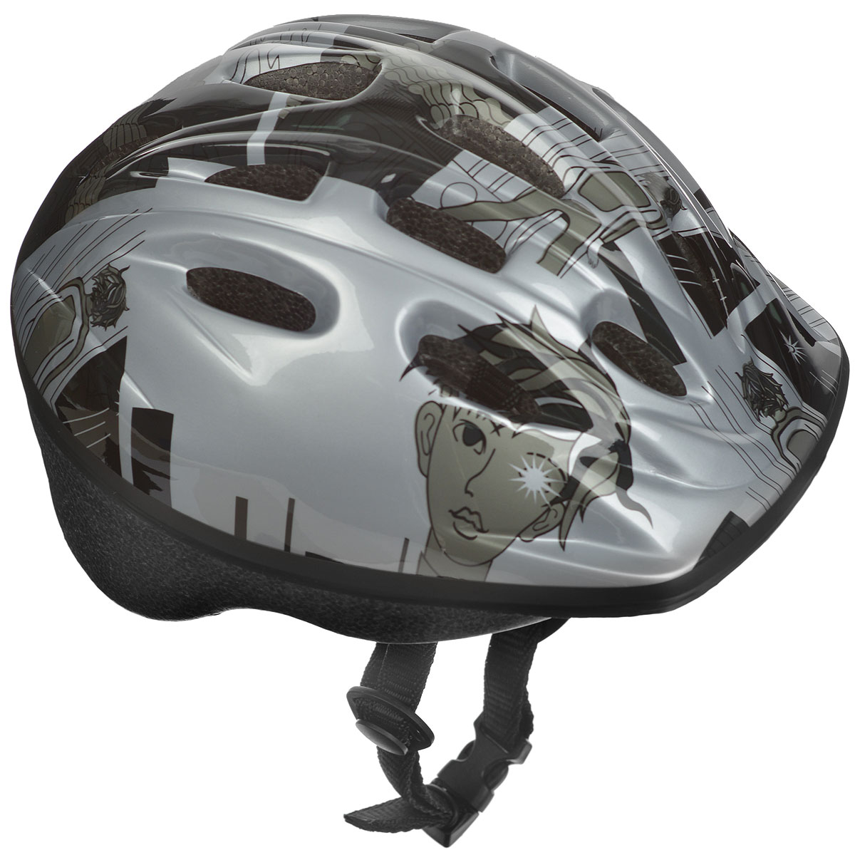Шлем защитный Action, цвет: серый. Размер XS (48-51). PWH-30Z90 blackШлем Action послужит отличной защитой для ребенка во время катания на роликах или велосипеде. Он выполнен из плотного вспененного пенопласта, покрытого пластиковой пленкой и отлично сидит на голове, благодаря мягким вставкам на внутренней стороне. Шлем снабжен системой вентиляции и крепится при помощи удобного регулируемого ремня с пластиковым карабином, застегивающимся на подбородке.