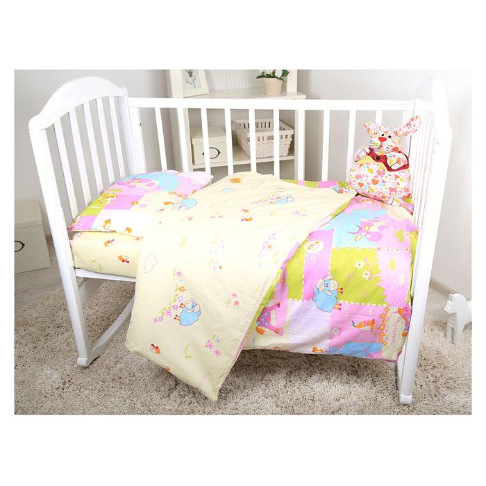 Комплект детского постельного белья Baby Nice Ферма, цвет: розовый, 3 предмета327/4Детский комплект постельного белья Baby Nice Ферма состоит из наволочки, пододеяльника и простыни на резинке. Такой комплект идеально подойдет для кроватки вашего малыша и обеспечит ему здоровый сон. Он изготовлен из натурального 100% хлопка, дарящего малышу непревзойденную мягкость. Натуральный материал не раздражает даже самую нежную и чувствительную кожу ребенка, обеспечивая ему наибольший комфорт. Простыня с помощью специальной резинки растягивается на матрасе. Она не сомнется и не скомкается, как бы не вертелся ребенок. Приятный рисунок комплекта, несомненно, понравится малышу и привлечет его внимание. На постельном белье Baby Nice Ферма ваша кроха будет спать здоровым и крепким сном.