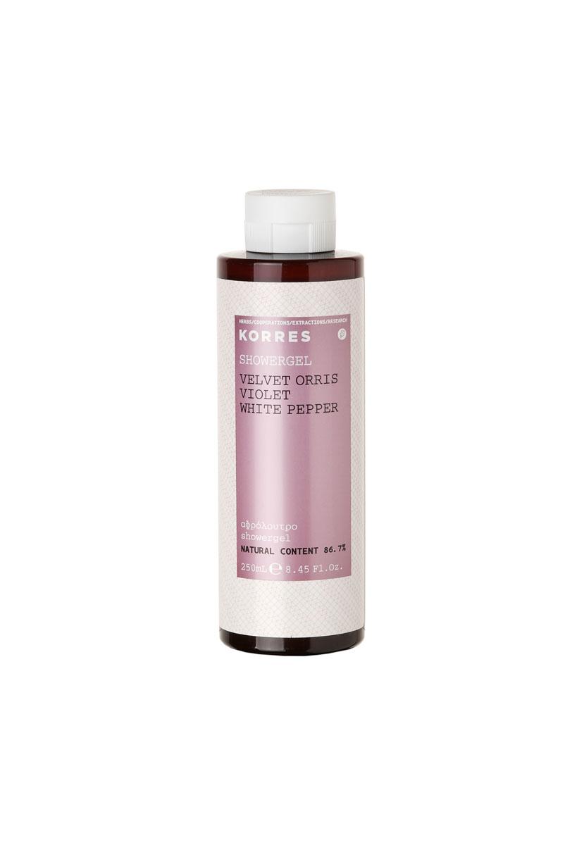 Korres Гель для душа фиалка 250 млFS-0089786, 7% натуральных ингредиентов. Ароматический и увлажняющий гель для душа, идеально подходит для ежедневного использования. Превращаясь в кремовую пену, он обеспечивает интенсивный смягчающий и увлажняющий эффект, сохраняющийся надолго. Протеины пшеницы образуют защитную пленку на поверхности кожи, обеспечивая длительное увлажнение. Гель обладает красивым нежным ароматом фиалки. Для продления аромата, используйте вместе с Молочком для тела.* Активный экстракт алоэ - увлажнение, антиоксидант, поддерживает кожный иммунитет * Протеины пшеницы - образуют защитную пленку на коже * Протеины овса - образуют защитную пленку на кожеНаносите на влажную кожу при принятии душа или ванны.