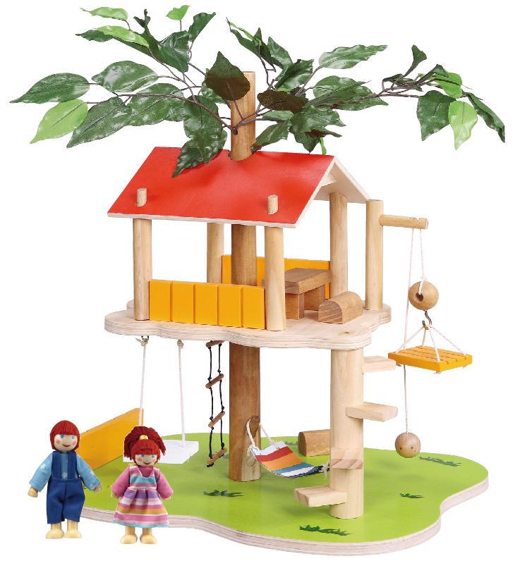 Balbi Дом для кукол Домик на дереве и 2 фигурки конструкторы happykon кукольный домик хэппидом коттедж с мебелью для кукол из дерева