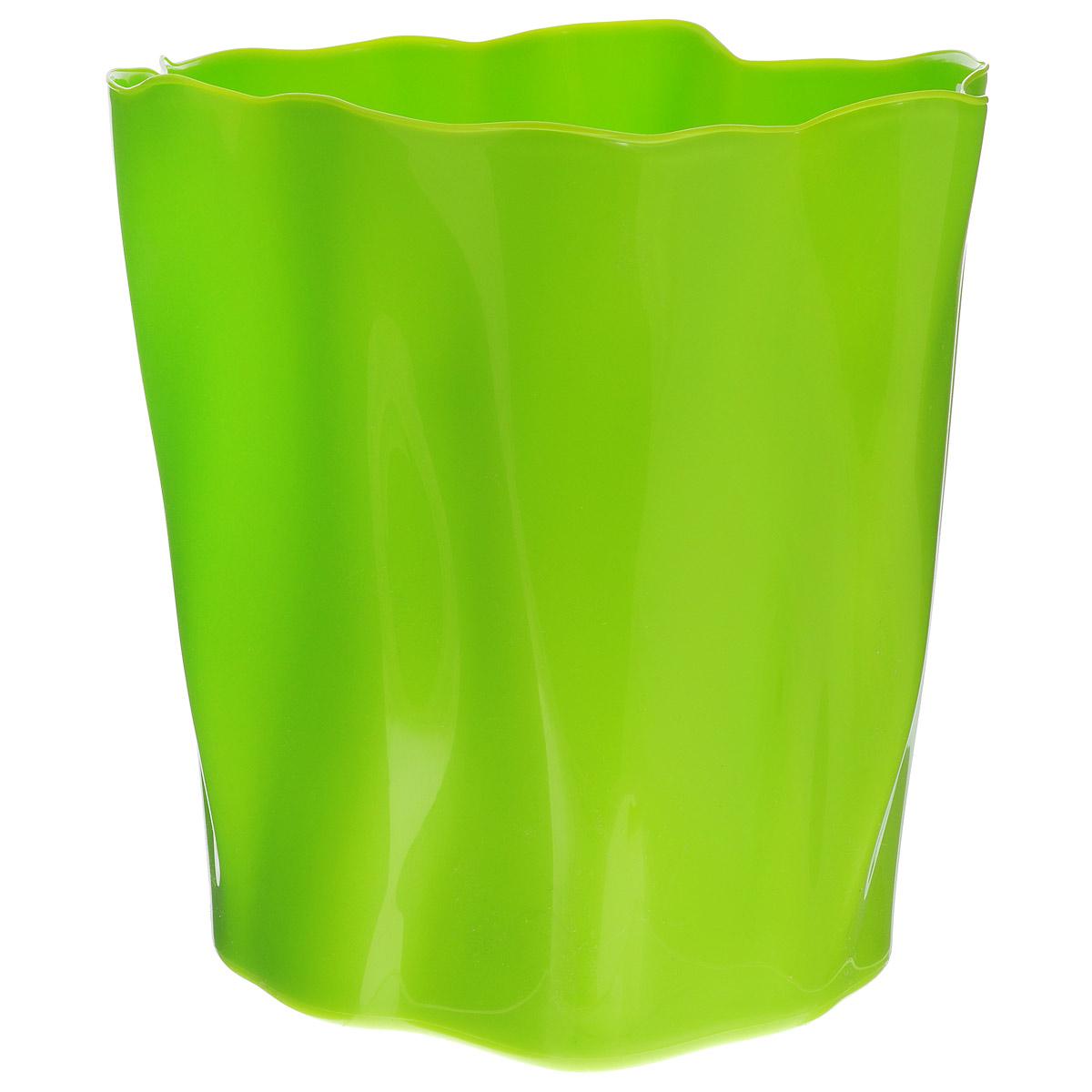 Органайзер Qualy Flow, большой, цвет: зеленый, диаметр 27 смS03301004Органайзер Qualy Flow может пригодиться на кухне, в ванной, в гостиной, на даче, на природе, в городе, в деревне. В него можно складывать фрукты, овощи, хлеб, кухонные приборы и аксессуары, всевозможные баночки, можно использовать органайзер как мусорную корзину, вазу. Все зависит от вашей фантазии и от хозяйственных потребностей! Пластиковый оригинальный органайзер пригодится везде!Диаметр: 27 см.Высота стенки: 28 см.