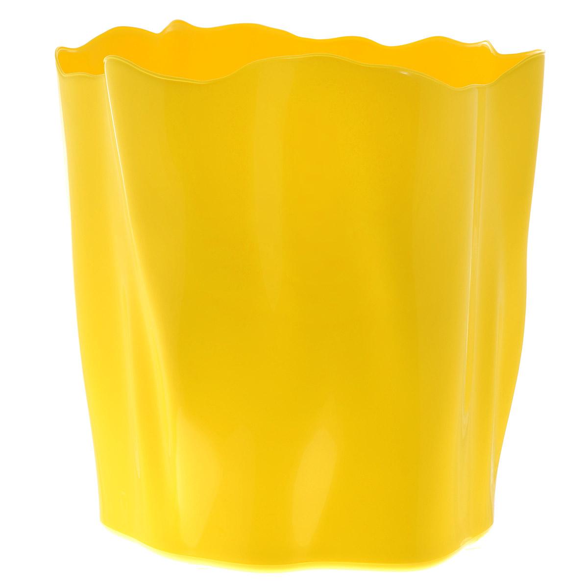 Органайзер Qualy Flow, большой, цвет: желтый, диаметр 27 смCLP446Органайзер Qualy Flow может пригодиться на кухне, в ванной, в гостиной, на даче, на природе, в городе, в деревне. В него можно складывать фрукты, овощи, хлеб, кухонные приборы и аксессуары, всевозможные баночки, можно использовать органайзер как мусорную корзину, вазу. Все зависит от вашей фантазии и от хозяйственных потребностей! Пластиковый оригинальный органайзер пригодится везде!Диаметр: 27 см.Высота стенки: 28 см.