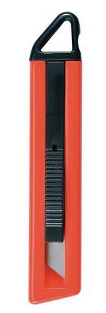 Нож канцелярский Erich Krause, с возвращающимся лезвием, цвет: красный, 14 см610931Канцелярский нож Erich Krause с системой возвращающегося лезвия предназначен для работы с бумагой, плотным картоном, пленкой, очень удобен для открытия коробок. Корпус ножа выполнен из цветного ударопрочного пластика. Автоматически возвращающееся лезвие изготовлено из высококачественной нержавеющей стали. Нож оснащен отверстием для шнурка.Материал: нержавеющая сталь, пластик.Размер ножа: 14 см x 3 см x 1,5 см.Ширина лезвия: 1,9 см.Длина лезвия: 6,1 см.