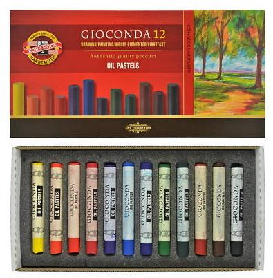 Пастель масляная Koh-i-Noor Gioconda, 12 цветовFS-36054Масляная пастель Koh-i-Noor Gioconda изготовлена из натуральных компонентов и не содержит вредных примесей. Пастель предназначена для профессиональных художественных работ. При создании рисунка масляную пастель можно комбинировать с акриловыми и акварельными красками.При работе пастелью лучше использовать шероховатые поверхности - специальные бумаги, картон, холст. Пастель отличают яркие долговечные цвета, стойкие к воздействию света. Количество цветов: 12. Длина мелка: 7,5 см. Диаметр мелка: 1 см.