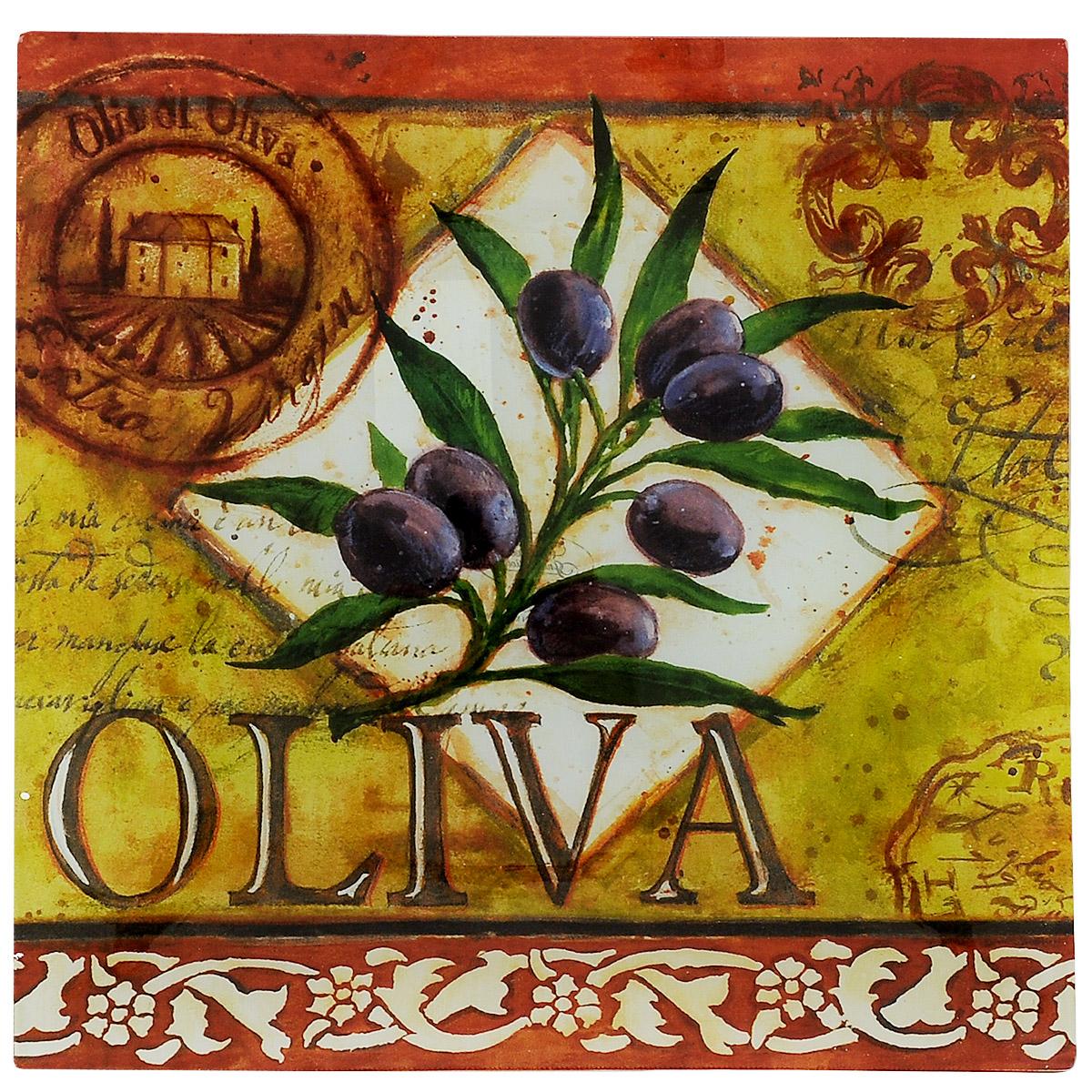 Блюдо Certified International Oliva, 35 см х 35 см94672Изящное квадратное блюдо Certified International Oliva выполнено из прочного стекла и оформлено изображением ветки оливы. Блюдо прекрасно подойдет для сервировки различных блюд. Такое блюдо прекрасно оформит праздничный стол и станет желанным подарком для любой хозяйки. Размер: 35 см х 35 см х 2 см.