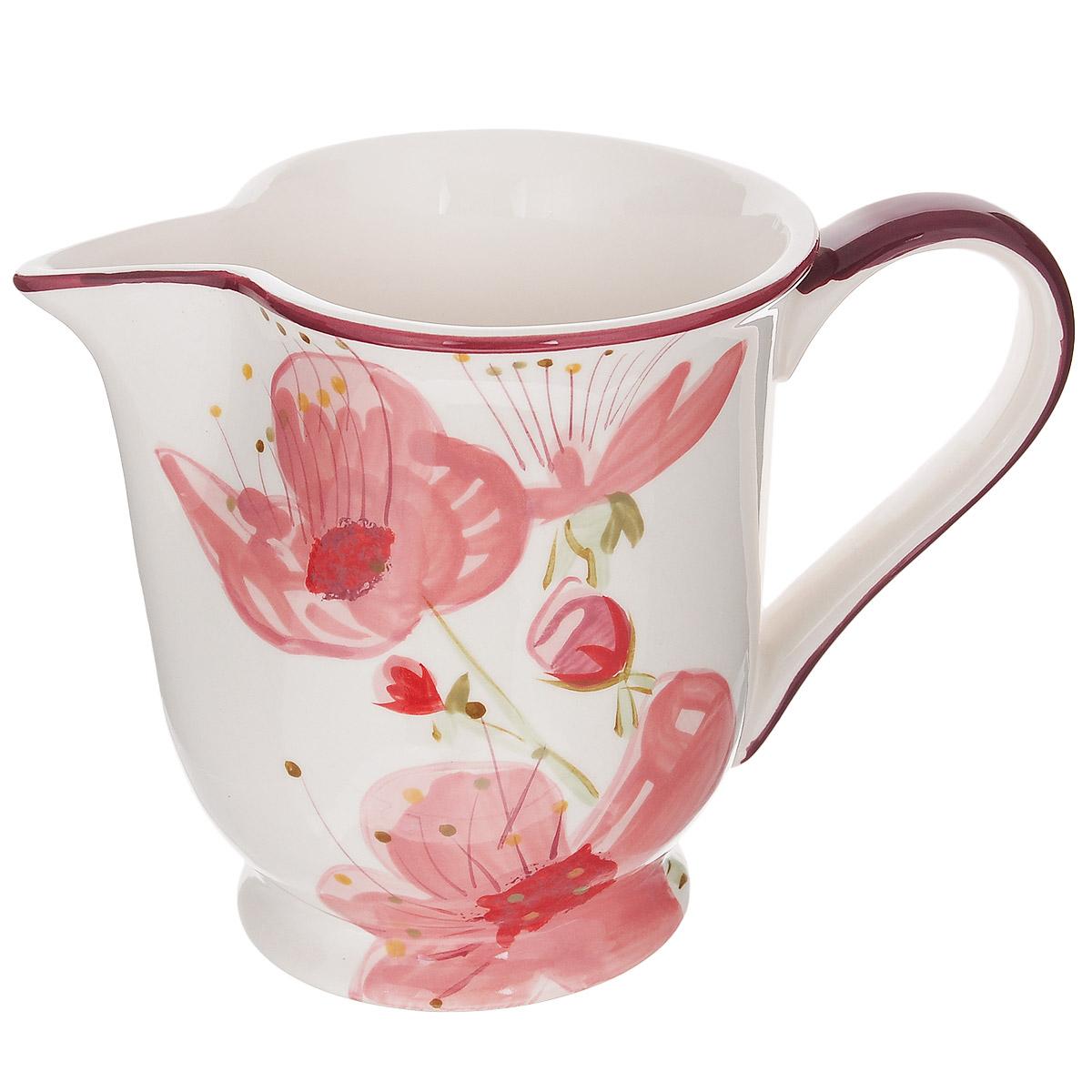 Кувшин Polnaya Chasha Вишня, 1 лVT-1520(SR)Кувшин Polnaya Chasha Вишня изготовлен из высококачественной глазурованной керамики и оформлен красивым рисунком. Такой кувшин прекрасно подойдет для подачи молока, сока, воды и других напитков. Он ярко украсит ваш стол и станет практичным аксессуаром на вашей кухне. Коллекция Вишня - это очень модный и современный дизайн для использования каждый день на вашем столе. Каждый предмет данной коллекции эксклюзивно раскрашен вручную с помощью ярких устойчивых красок. Подходит для использования в микроволновых печах, а также для мытья в посудомоечных машинах.