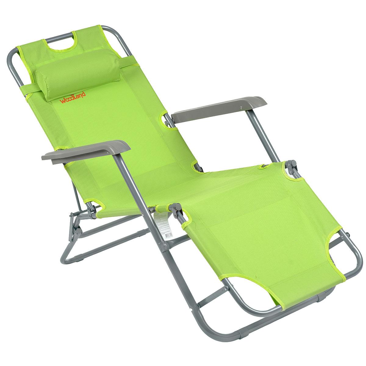 Кресло складное Woodland Lounger Oxford, цвет: зеленый, 153 см х 60 см х 79 смC0038550Складное кресло Woodland Woodland Lounger Oxford предназначено для создания комфортных условий в туристических походах, охоте, рыбалке и кемпинге.Особенности: Компактная складная конструкция.Прочный стальной каркас с покрытием, диаметр 19 мм и 25 мм.Прочная ткань Oxford 600 обладает повышенной износостойкостью.