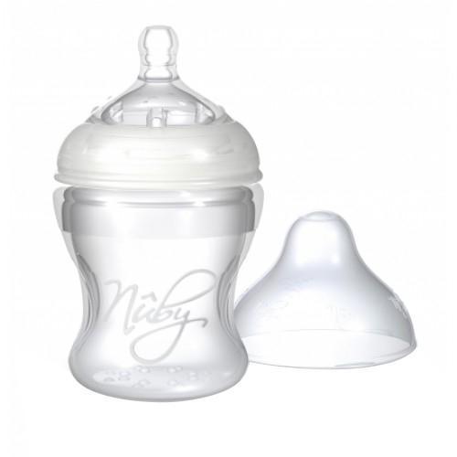Вам приходится кормить малыша молочной смесью из бутылочки, и вы постоянно ищете такую бутылочку, которая была бы максимально удобна и для вас, и для вашего малыша? Попробуйте совершенно новую бутылочку со специальной антисиликоновой системой производства хорошо известной компании Nuby. Такая бутылочка идеальна для вашего крохи.