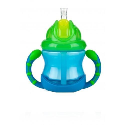 Новая мягкая трубочка для питья не причиняет беспокойства нежным деснам и защищает зубки ребенка. Трубочка прикрыта отщелкивающимся колпачком, удобным в использовании. Уникальная разработка защищает трубочку для питья от загрязнений в перерывах между использованиями. Подходит для путешествий и коротких поездок. Отщелкивающийся колпачок сохраняет трубочку в чистоте. Когда ребенок захочет пить, он сможет без труда открыть колпачок при помощи щелчка; при этом колпачок отбрасывается назад и не падает с крышки. Жидкость поступает в трубочку только в момент питья.