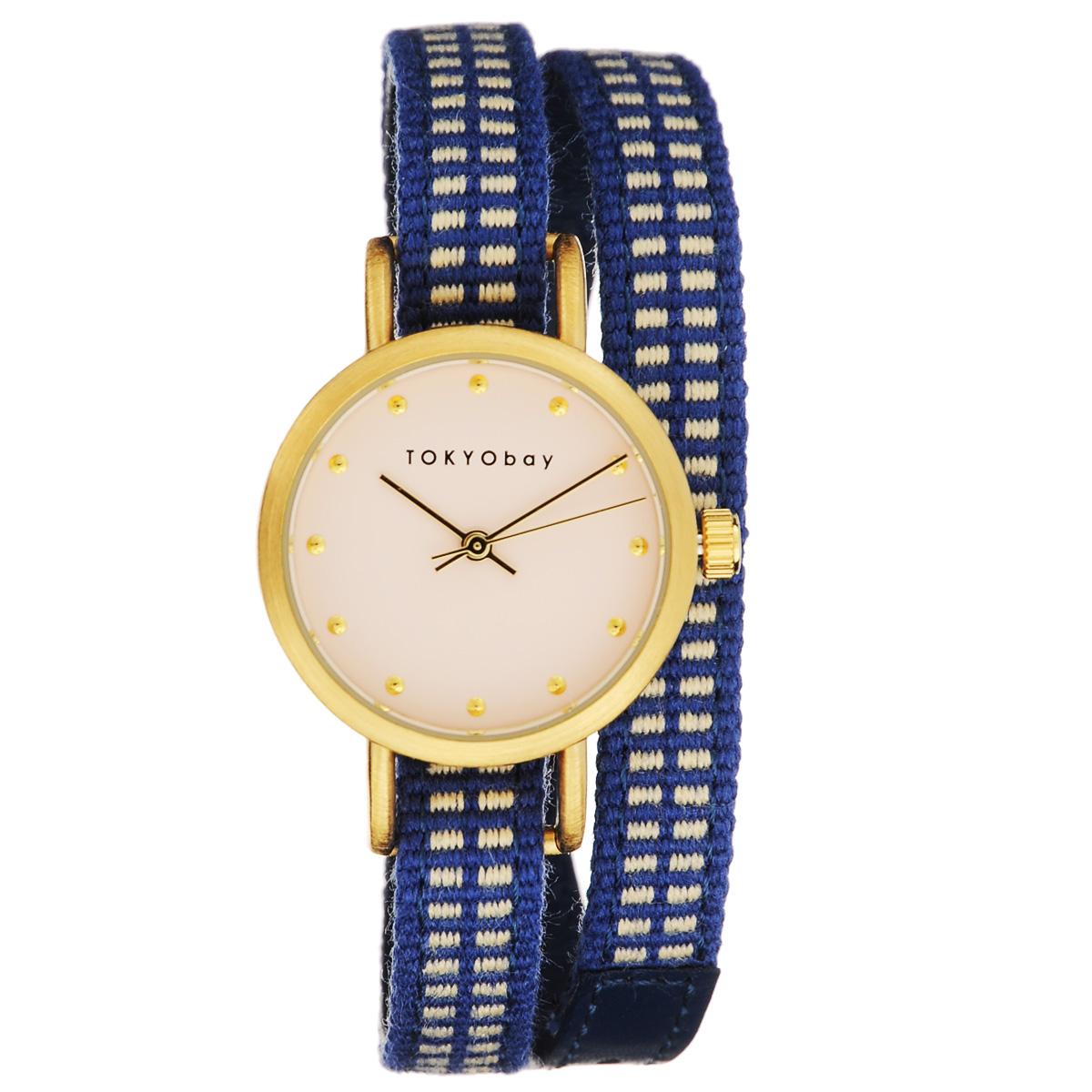 Часы женские наручные Tokyobay Obi, цвет: синий. T233-BL tokyobay obi t233 bl