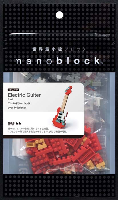 NanoBlock Мини-конструктор Красная электрогитара