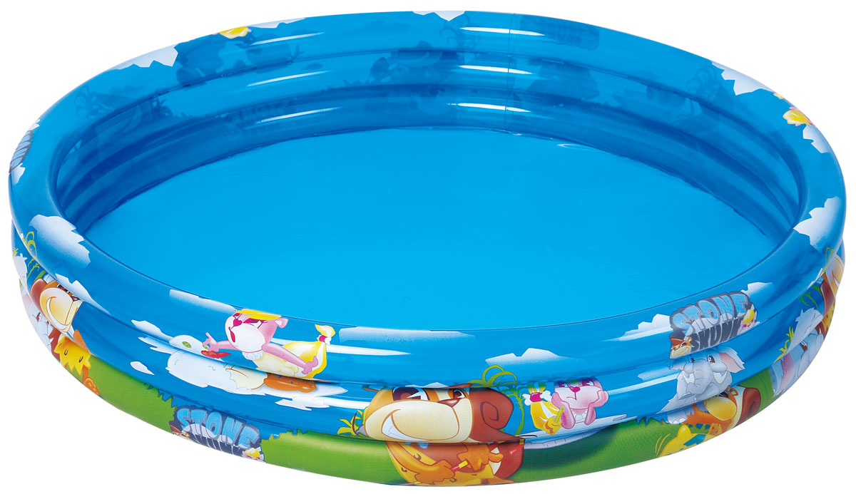 Бассейн надувной Jilong Stone Skunk 3-ring, 122 см х 25 смAS 25Круглый надувной бассейн Jilong Stone Skunk 3-ring предназначен для детского и семейного отдыха на загородном участке. Отлично подойдет для детей от 1 до 3 лет. Бассейн изготовлен из прочного ПВХ. Состоит из 3 колец одинакового размера.Комфортный дизайн бассейна и приятная цветовая гамма сделают его не только незаменимым атрибутом летнего отдыха, но и оригинальным дополнением ландшафтного дизайна участка. В комплект с бассейном входит заплатка для ремонта в случае прокола.