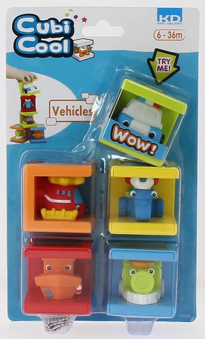 Кубики Транспорт Kidz Delight машинки kidz delight машинка полиция