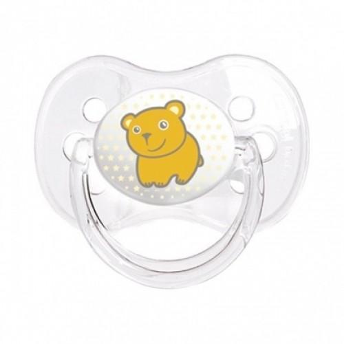 Canpol Babies Пустышка силиконовая от 18 месяцев цвет желтый
