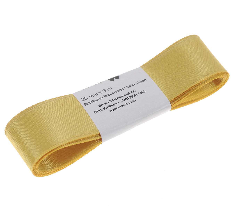 Лента атласная Brunnen, цвет: золотистый, ширина 2,5 см, длина 3 мC0038552Лента Brunnen изготовлена из атласа. Область применения атласной ленты весьма широка. Лента предназначена для оформления цветочных букетов, подарочных коробок, пакетов. Кроме того, она с успехом применяется для художественного оформления витрин, праздничного оформления помещений, изготовления искусственных цветов. Ее также можно использовать для творчества в различных техниках, таких как скрапбукинг, оформление аппликаций, для украшения фотоальбомов, подарков, конвертов, фоторамок, открыток и т.д.Ширина ленты: 2,5 см.Длина ленты: 3 м.