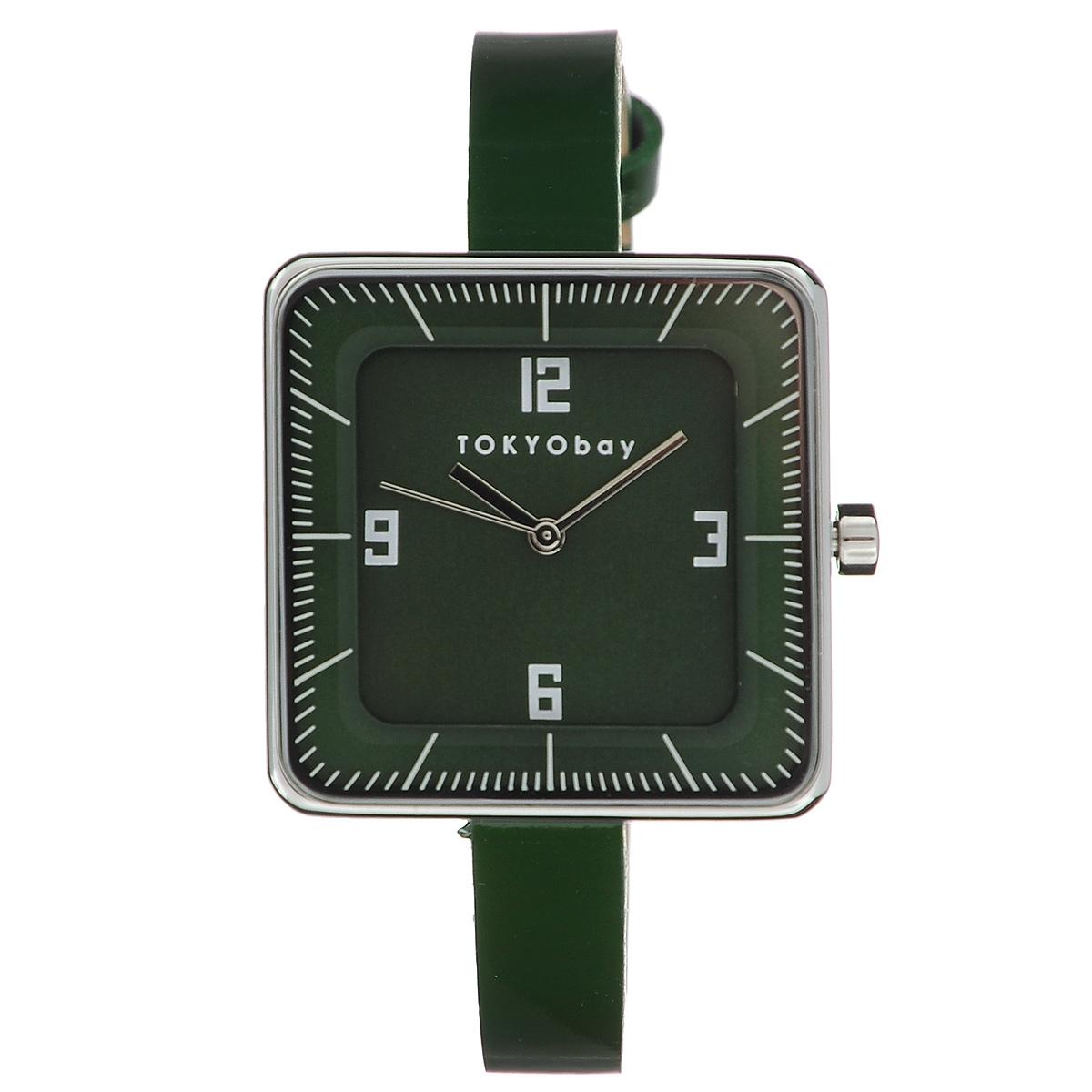 Часы женские наручные Tokyobay Gala, цвет: зеленый. T2019-GRL21-2011-SНаручные часы Tokyobay - это стильное дополнение к вашему неповторимому образу. Эти часы созданы для современных девушек, ценящих стиль, качество и практичность. Часы оснащены японским кварцевым механизмом Miyota. Корпус выполнен из металла, не содержащего никель. Задняя крышка изготовлена из нержавеющей стали. Циферблат имеет три стрелки - часовую, минутную и секундную. Циферблат защищен ударопрочным оптическим пластиком. Тонкий ремешок выполнен из натуральной кожи и застегивается на классическую застежку.Часы Tokyobay - это практичный и модный аксессуар, который подчеркнет ваш безупречный вкус.Характеристики: Корпус: 29 х 29 х 10 мм. Размер ремешка: 19 х 0,8 см.Не водостойкие.