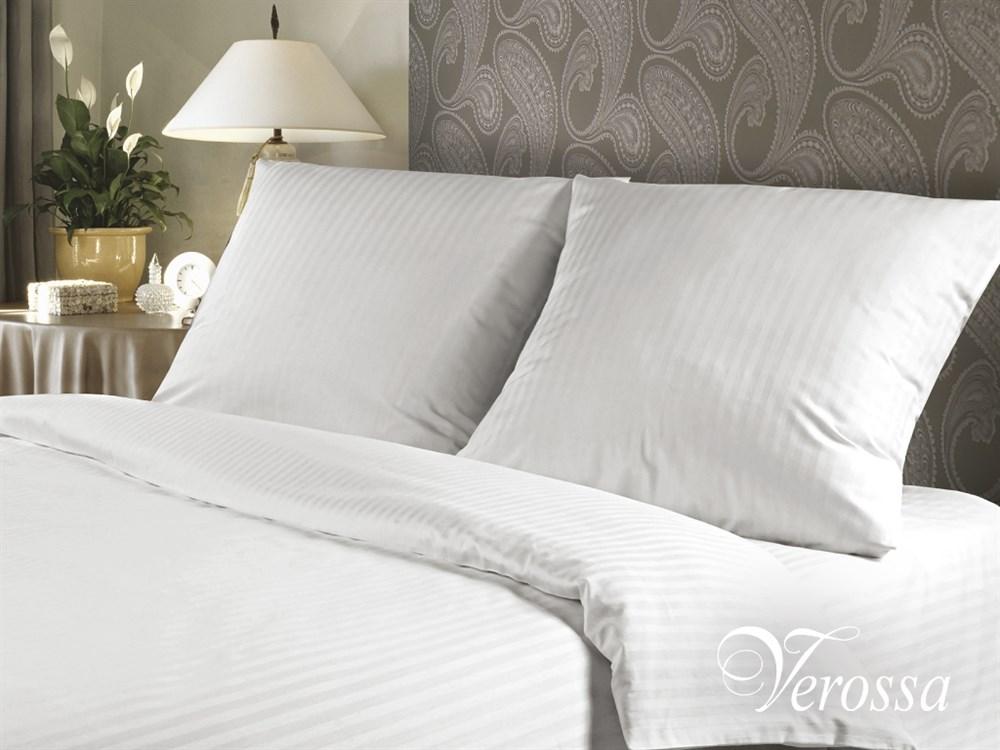 Постельное белье Verossa Stripe Роял, евро, наволочки 50х70, 70х70, цвет: белый. 147473Д Дачно-Деревенский 20Уникальный продукт, не имеющий аналогов на российском рынке. Классическое белое натуральное постельное белье комбинированного переплетения в полоску для людей, ценящих комфорт, стиль и высокое качество.Оригинальная структура ткани достигается за счет сложного переплетения и использования пряжи высоких номеров. Рисунки в виде оригинального ажурного узора с эффектом жаккарда придают особенное изящество.