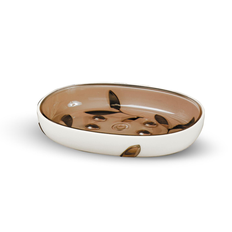Мыльница Tatkraft Immanuel Olive, цвет: серый, коричневыйV30 AC DCМыльница Immanuel Olive - отличное решение для ванной комнаты. Такой аксессуар очень удобен в использовании.Мыльница Immanuel Olive создаст особую атмосферу уюта и максимального комфорта в ванной. Характеристики: Материал:акрил. Размер:13 см х 9,5 см х 2 см. Размер упаковки:13 см х 9,5 см х 2 см. Артикул:12004.