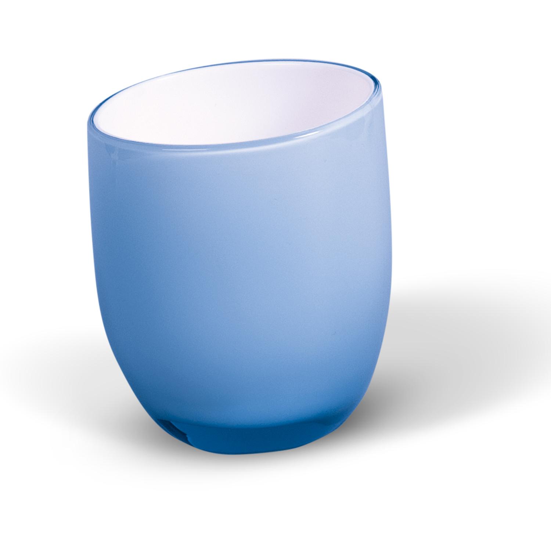 Стаканчик для ванной комнаты Immanuel Repose, цвет: синий, белый97678Стаканчик Immanuel Repose - отличное решение для ванной комнаты. Стаканчик овальной формы, выполнен из акрила синего и белого цветов. Такой аксессуар очень удобен в использовании, вы можете поместить в него все, что вам нужно. Стаканчик Immanuel Repose создаст особую атмосферу уюта и максимального комфорта в ванной. Характеристики:Материал:акрил. Цвет: синий, белый. Размер по верхнему краю:7,5 см х 6,8 см. Высота: 9 см. Артикул:12264.