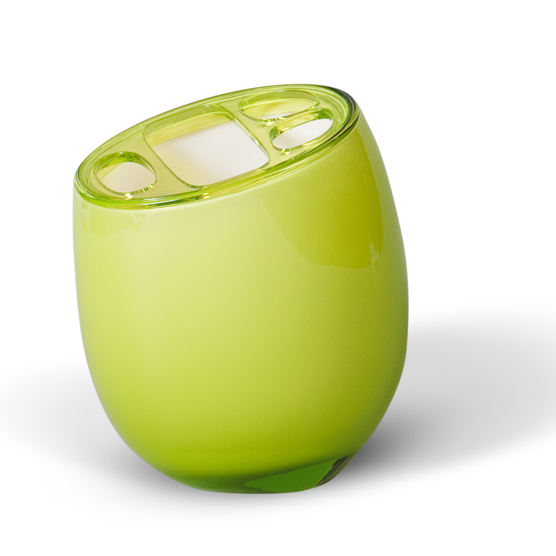 Стакан для зубных щеток Immanuel Repose Green, цвет: салатовый. 123011004900000360Стакан для зубных щеток Immanuel Repose Green изготовлен из акрила салатового цвета и имеет три маленьких и одно большое отверстие для зубных щеток. Зубная щетка легко загрязняется, поэтому ее следует содержать в абсолютной чистоте. Хранение зубных щеток в специальном стакане заметно снижает количество микроорганизмов в самой щетке, а щетинки сохраняют свою твердость и форму. Стакан Immanuel Repose Green сохранит ваши зубные щетки и станет стильным аксессуаром, который украсит интерьер ванной комнаты. Характеристики: Материал: акрил. Цвет: салатовый. Размер стакана по верхнему краю: 8,5 см х 7 см. Высота стакана: 11,5 см. Артикул: 12301.