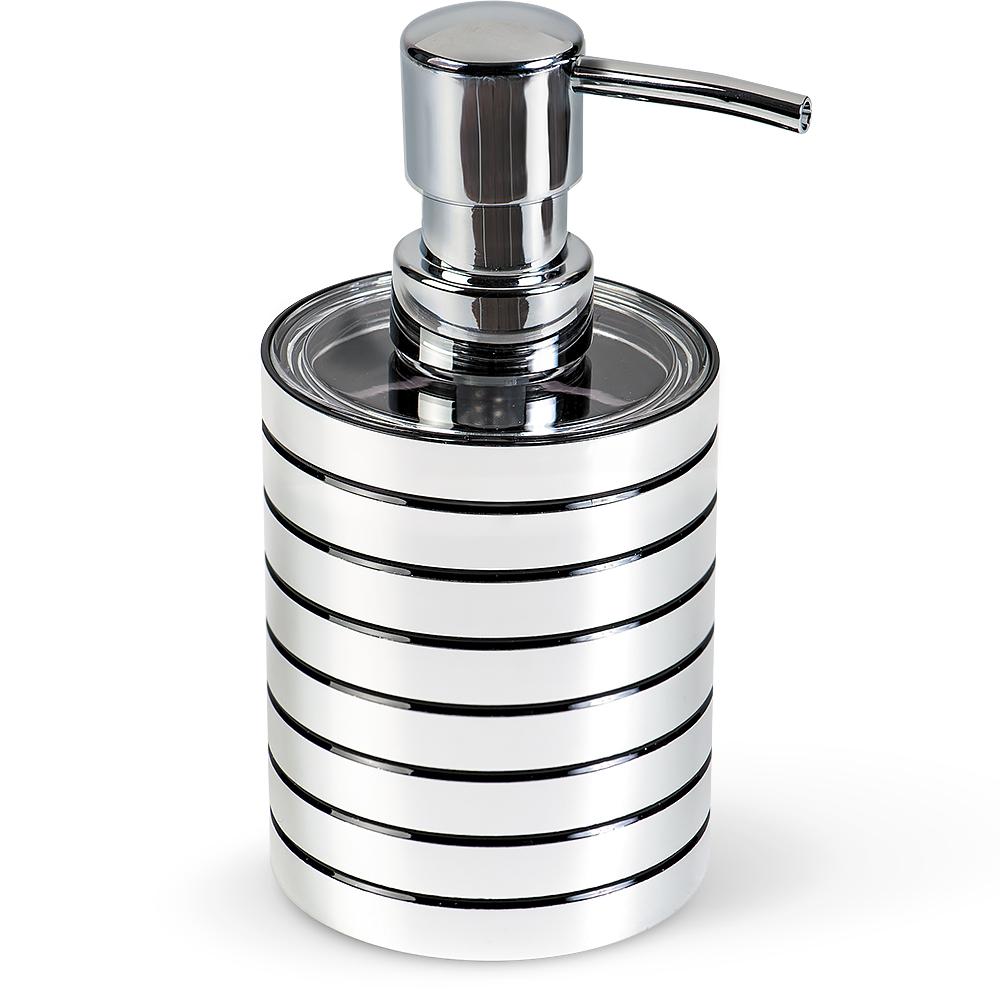 Дозатор для жидкого мыла Tatkraft Acryl Shine41619Дозатор для жидкого мыла Tatkraft Acryl Shine выполнен из акрила с зеркальным блеском. Дозатор для жидкого мыла отличается легкостью и компактностью, при этом он устойчив. Такой аксессуар очень удобен в использовании: достаточно лишь перелить жидкое мыло в дозатор, а когда необходимо использование мыла, легким нажатием выдавить нужное количество. Дозатор для жидкого мыла Tatkraft Acryl Shine прекрасно подойдет для интерьера ванной комнаты. Диаметр дозатора: 7,5 см.Высота дозатора: 15 см.
