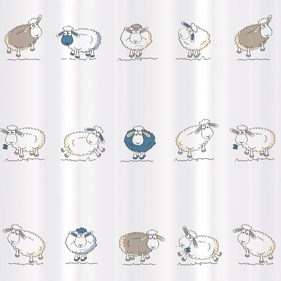 Штора для ванной комнаты Tatkraft Funny Sheep, 180 см х 180 см68/5/3Штора для ванной Tatkraft Funny Sheep изготовлена из полиэстера - водонепроницаемого, мягкого на ощупь и прочного материала. Специальная водоотталкивающая пропитка позволяет каплям не задерживаться на поверхности, а быстро стекать вниз. Антигрибковое покрытие предотвращает появление плесени и продлевает срок службы. Штора быстро сохнет, легко моется и обладает повышенной износостойкостью. В комплекте 12 овальных пластиковых колец. Два магнита-утяжелителя по углам обеспечивают лучшую фиксацию.Штора для ванной Tatkraft порадует вас своим ярким дизайном и добавит уюта в ванную комнату.