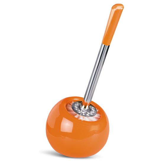 Гарнитур для туалета Tatkraft Terra, цвет: оранжевый, 2 предмета15005