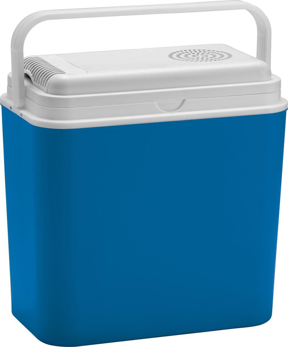 Автохолодильник электрический Atlantic, цвет: синий, 30 л, 12 ВCDF-16Электрический автохолодильник Atlantic предназначен для хранения и транспортировки скоропортящихся продуктов питания и напитков. Корпус изделия выполнен из высококачественного полиуретана с наполнением. Холодильник снабжен электро-розеткой и работает от напряжения в 12 В. Это позволяет использовать его в машине или лодке. Термоэлектрический элемент абсолютно бесшумен и устраняет необходимость использования вредных охлаждающих жидкостей. Вентилятор обеспечивает хорошую циркуляцию охлажденного воздуха. Благодаря отличной изоляции продукты остаются охлажденными на протяжении нескольких часов, даже при выключенном холодильнике. Автохолодильник работает исключительно от машинной розетки 12V DC, или от адаптера внутри помещений (не входит в комплект). Крышка плотно закрывается. Для удобства переноски предусмотрена ручка. Такой прибор пригодится для отдыха на природе, пикника и путешествий в автомобиле.