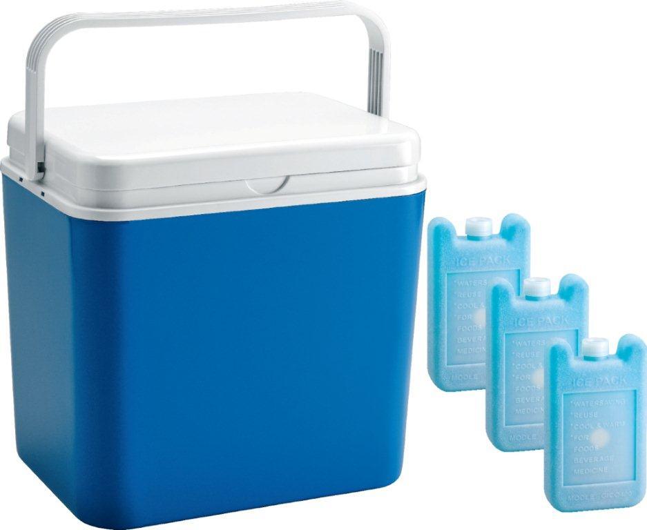 Контейнер изотермический Atlantic Cool Box, цвет: синий, 30 л + аккумулятор холода, 3 х 400 гAS 25Легкий и прочный изотермический контейнер Atlantic Cool Box предназначен для сохранения определенной температуры продуктов во время длительных поездок. Корпус и крышка контейнера изготовлены из высококачественного пластика. Между двойными стенками находится термоизоляционный слой, который обеспечивает сохранение температуры. Крышку можно использовать в качестве столика или подноса. Ручка служит фиксатором крышки, которая закрывается очень плотно. К контейнеру прилагается три аккумулятора холода по 400 г каждый.При использовании аккумулятора холода контейнер обеспечивает сохранение продуктов холодными до 12 часов.Температурный режим эксплуатации: от -30°C до +60°C. Контейнер идеально подходит для отдыха на природе, пикников, туристических походов и путешествий.Объем контейнера: 30 л.Размер контейнера: 40 см х 38 см х29 см.