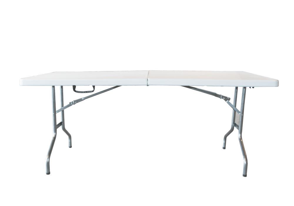 Стол Green Glade, 183 см х 74 см х 74 см67742Складной стол Green Glade предназначен для создания комфортных условий на дачном участке. Каркас стола выполнен из прочного металла, столешница из пластика. В сложенном виде стол не занимает много места.Толщина столешницы: 5 см.