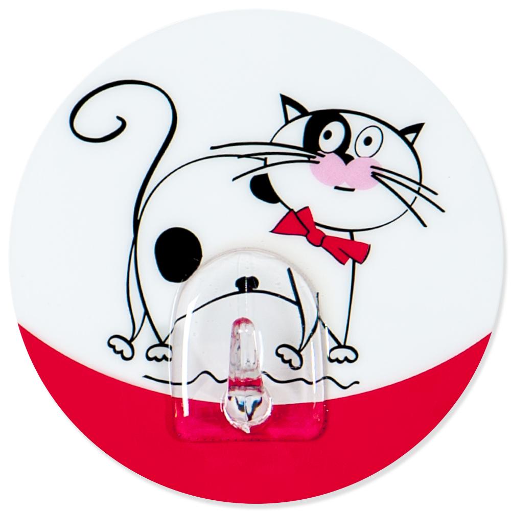 Крючок адгезивный Tatkraft Funny cats. 1824268/5/3Крючок адгезивный Tatkraft Funny cats изготовлен из пластика и декорирован изображением кота. Крючок может быть установлен только на ровной воздухонепроницаемой поверхности: плитка, стекло, пластик, металл, ламинированное дерево и другие. Крючок является многоразовым, что позволяет перевесить его в любое удобное место. Крючок Tatkraft Funny cats имеет авторский дизайн, который украсит любой интерьер. Диаметр: 8 см. Длина крючка: 1,5 см.Максимальный вес: 3 кг.