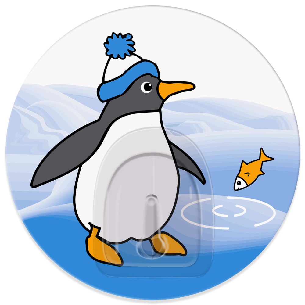 Крючок адгезивный Tatkraft Penguins TinoS03301004Крючок адгезивный Tatkraft Penguins Tino изготовлен из пластика и декорирован изображением пингвина. Крючок может быть установлен только на ровной воздухонепроницаемой поверхности: плитка, стекло, пластик, металл, ламинированное дерево и другие. Крючок является многоразовым, что позволяет перевесить его в любое удобное место. Не требует монтажа, легко приклеивается благодаря липкому слою. Диаметр: 8 см. Максимальный вес: 3 кг.
