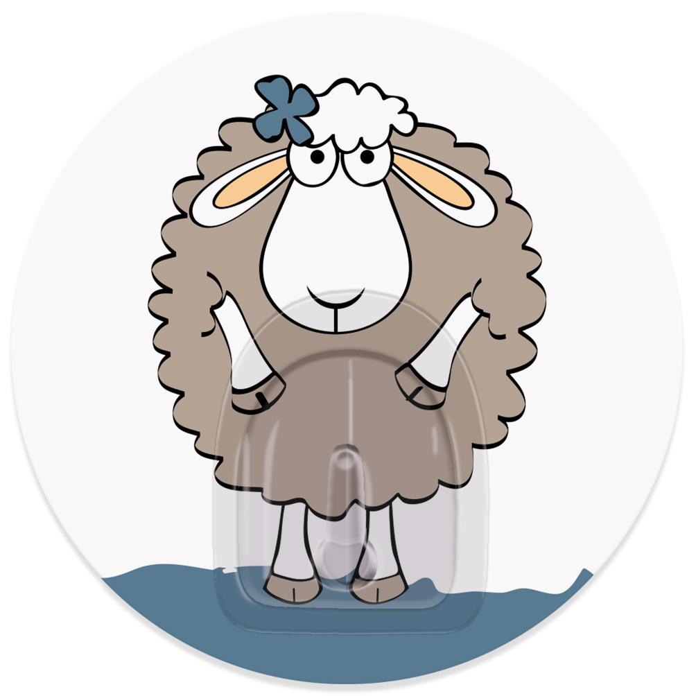 Крючок адгезивный Tatkraft Funny sheep. Dolly, диаметр 8 см68/5/4Крючок адгезивный Tatkraft Funny sheep. Dolly изготовлен из пластика. Крючок может быть установлен только на ровной воздухонепроницаемой поверхности: плитка, стекло, пластик, металл, ламинированное дерево и другие. Крючок является многоразовым, что позволяет перевесить его в любое удобное место. Крючок Tatkraft Funny sheep. Dolly имеет авторский дизайн, который украсит любой интерьер. Диаметр крючка: 8.Максимальная нагрузка: 3 кг.
