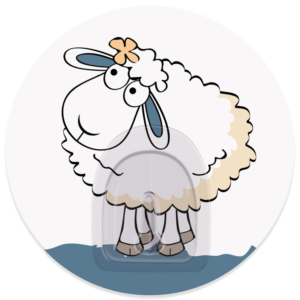 Крючок адгезивный Tatkraft Funny sheep. Linda, диаметр 8 см68/5/3Крючок адгезивный Tatkraft Funny sheep. Linda изготовлен из пластика. Крючок может быть установлен только на ровной воздухонепроницаемой поверхности: плитка, стекло, пластик, металл, ламинированное дерево и другие. Крючок является многоразовым, что позволяет перевесить его в любое удобное место. Крючок Tatkraft Funny sheep. Linda имеет авторский дизайн, который украсит любой интерьер. Диаметр крючка: 8.Максимальная нагрузка: 3 кг.