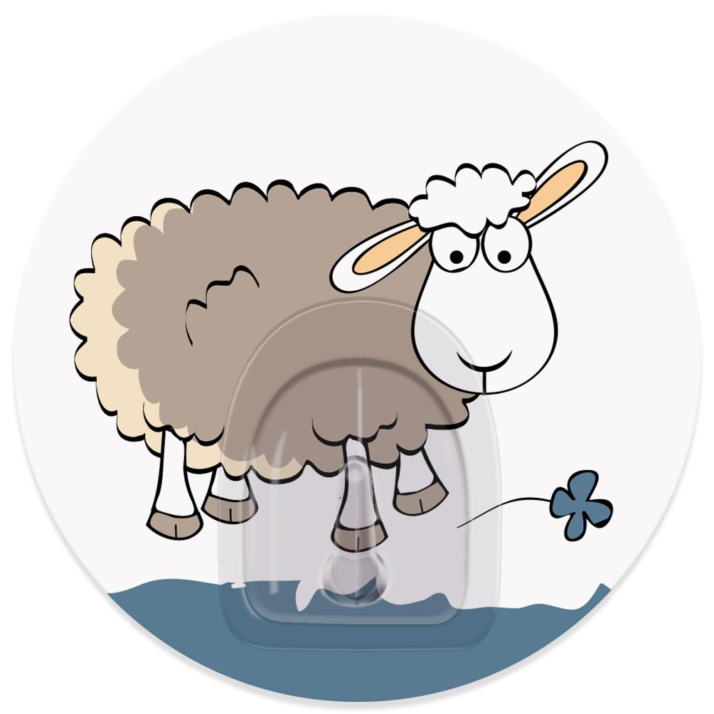 Крючок адгезивный Tatkraft Funny Sheep. Tela, диаметр 8 смSL117.503.04Адгезивный крючок Tatkraft Funny Sheep. Tela изготовлен из пластика. Крючок может быть установлен только на ровной воздухонепроницаемой поверхности: плитка, стекло, пластик, металл, ламинированное дерево и другие. Крючок является многоразовым, что позволяет перевесить его в любое удобное место. Крючок Tatkraft Funny Sheep. Tela имеет авторский дизайн, который украсит любой интерьер. Диаметр крючка: 8.Максимальная нагрузка: 3 кг.