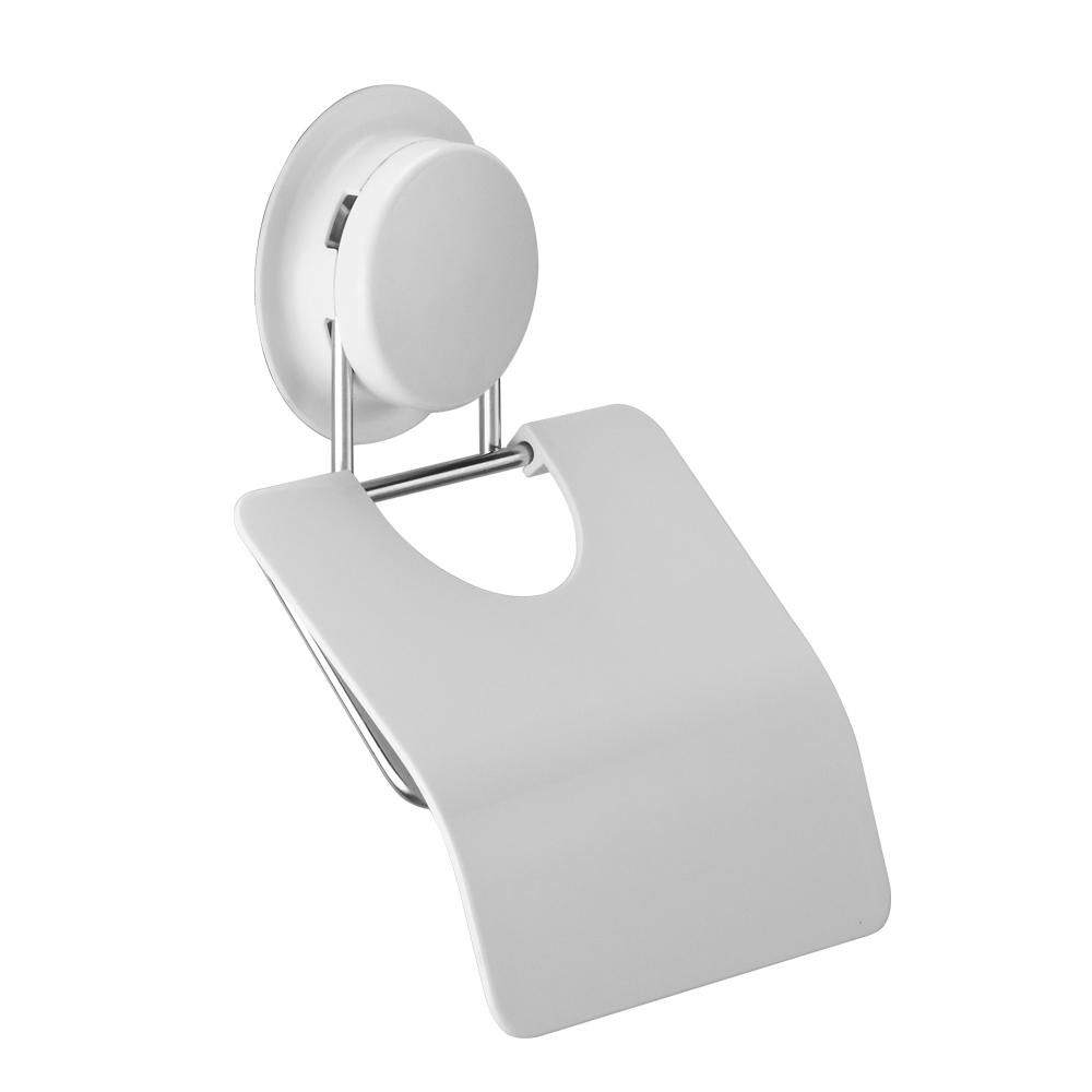 Держатель туалетной бумаги GarBath, с крышкой, на вакуумной системе крепления, цвет: белый12387_круглыйДержатель для туалетной бумаги GarBath изготовлен из пластика и нержавеющей стали. Благодаря особой конструкции, рулон бумаги не будет соприкасаться со стеной.Уникальная система крепления позволяет закрепить держатель на стене, не используя шурупы. Есть несколько вариантов крепления:- вакуумная присоска - выдерживает вес до 5 кг;- клей - прочно крепится к неровной, воздухопроницаемой поверхности;- при желании, еще один вид крепления - шуруп. Клей и шуруп входят в комплект.Оригинальный держатель с крышкой GarBath станет полезным и практичным аксессуаром любого туалета.Диаметр вакуумного крепления: 7 см.Размер держателя: 13,5 см х 12,5 см х 2 см.