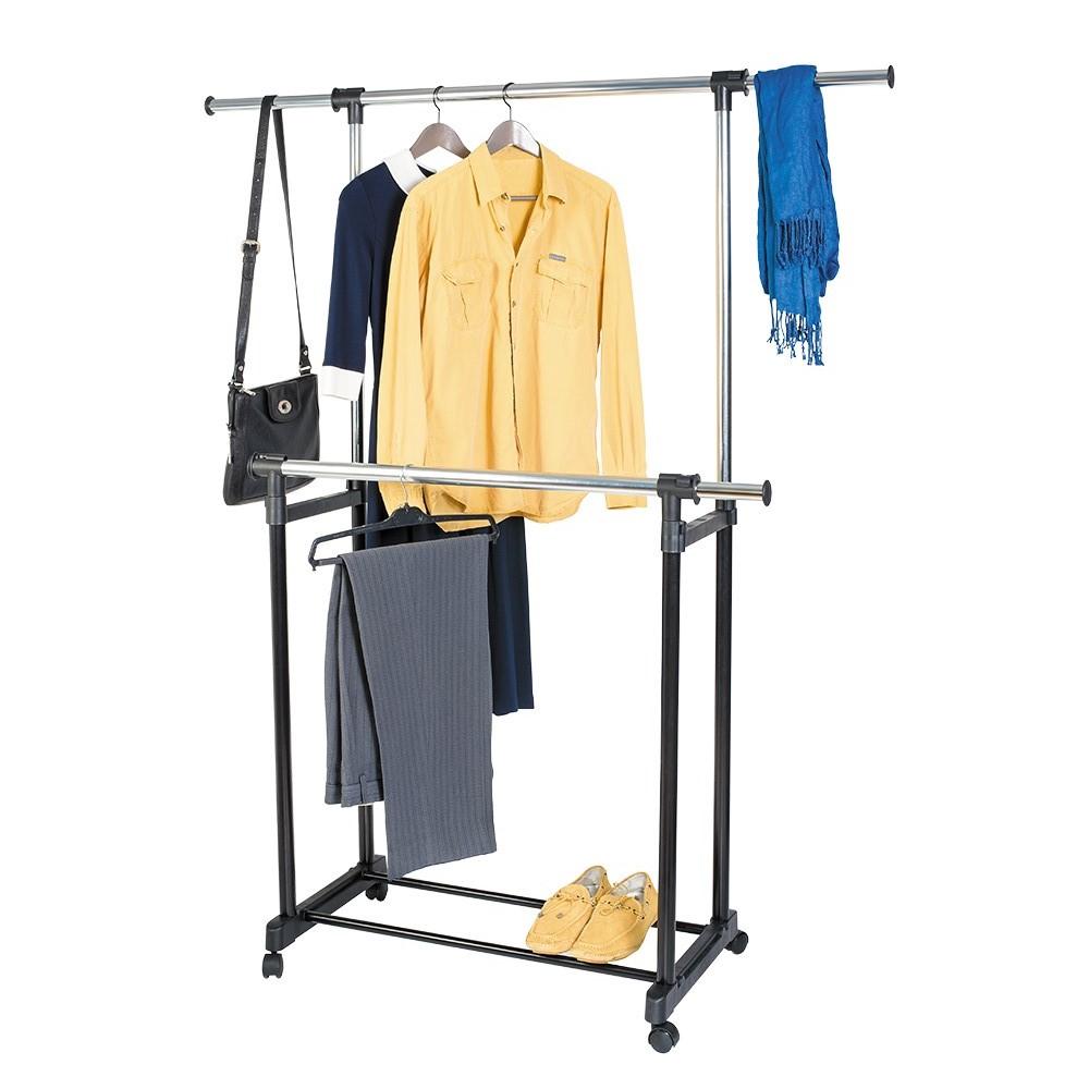 Стойка для одежды Artmoon Toronto, двойная, с боковыми выдвижными штангами, на колесикахPARIS 75015-8C ANTIQUEМобильная стойка Artmoon Toronto предназначена для аккуратного и компактного хранения вашего гардероба. Мобильная стойка имеет две вешалки для одежды, которые регулируются по высоте независимо друг от друга. Выдвижные боковые штанги позволяют разместить на них сумки и шарфы, не смешиваясь с основной одеждой. На стойку вмещается 60 плечиков с одеждой.Полочка внизу стойки позволит компактно разместить обувь.Стойка изготовлена из стали, а для более удобного перемещения имеются 4 пластиковых колеса.Надежная и очень вместительная стойка сэкономит место и станет незаменима для любого гардероба. Размер стойки в сложенном виде (ДхШхВ): 85 см х 43 см х 95 см. Размер стойки с выдвинутыми боковыми штангами и полной высотой (ДхШхВ): 155 см х 46 см х 160 см.Размер основания стойки: 43 см х 85 см.