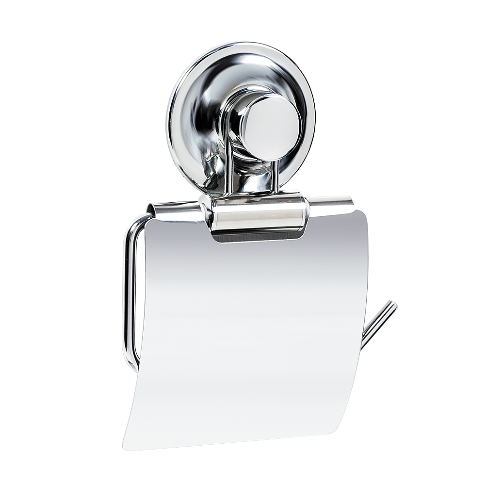 Держатель для туалетной бумаги Tatkraft Ring Lock, 12,5 х 2 х 12 смCLP446Держатель для туалетной бумаги Tatkraft Ring Lock выполнен из хромированной стали. Инновационная запатентованная система легкого монтажа не требует сверление дырок. Уникальная технология Magic Ring позволяет устанавливать присоски много раз и на различные поверхности: стекло, глазурованная плитка, металл, пластик. Держатель выдерживает вес до 8 кг.Размер держателя: 13,5 см х 4 см х 19,5 см.Максимальный вес: 8 кг.